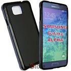 Cover Custodia Per Galaxy Alpha G850 G850F NERO Silicone Gel TPU + Pellicola