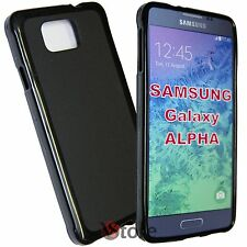 Cover Custodia Per Samsung Galaxy Alpha G850 G850F NERO Silicone Gel TPU