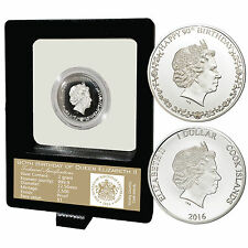 2016 Queen Elizabeth 90th Birthday Proof 9999 Solid Silver Coin COA Mother's Day