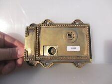 Vintage Brass Door Lock Bolt Old Bathroom WC Bolt Keep Beading