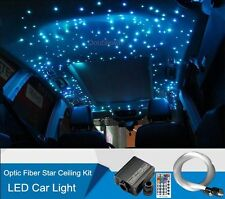 16W RGBW Remote Car LED Light 350 Strands 3M Fiber Optic Star Ceiling Kit 12V