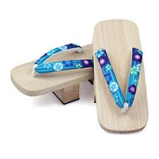 Japanese Wooden Geta Sandals High-heeled Women Slipper Clogs Flip
