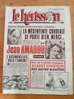 LE HERISSON n°1884 - 1981 - Margaret thatcher - Albert Einstein