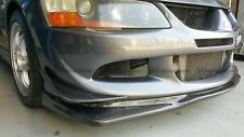 Carbon Fiber For Mitsubishi EVO 8 Ralliart Front Bumper Under Lip Spoiler Add on