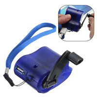 USA hot Cell Phone Emergency Charger USB Crank Hand Manual Dynamo For MP4 Mobile