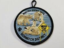 BSA Boy Scout Patch Winter Event 2016 Sunwatch District Watch for Ice Polar Bear