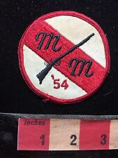 Gun Rifle Patch ~ M & M GUN CLUB OR MAYBE SHOOTING CLUB '54 (1954) 75V1
