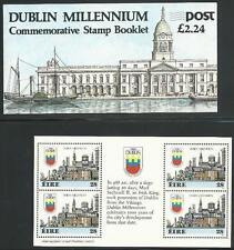 Irlanda de 1988 ** post frescos MH + heftchenblätter MiNr .642 - 1000 años de Dublín!