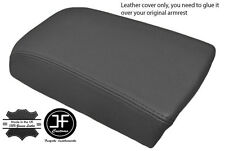 DARK GREY LEATHER FITS VOLVO S70 V70 850 C70  ARM REST SKIN COVER REAL LEATHER