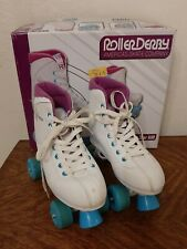 Roller Derby 600 Womens Skates White Blue Purple Size 8 Tag Some Wear See Pics