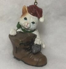 Cat, Kitten w/ boot, mouse  Christmas Tree Ornament