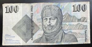 Australia $100 one hundred dollars Paper banknote, 1985, ZCZ, Fraser / Johnston