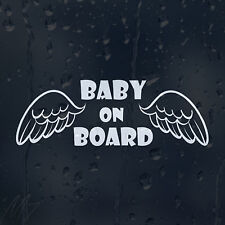 Baby On Board Angel Wings Car Decal Vinyl Sticker For Window Panel Bumper