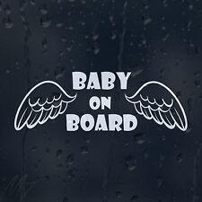 Baby On Board Angel Wings Car Decal Vinyl Sticker For Window Panel Bumper