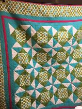 Blue and Green Flannel Quilt
