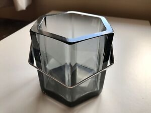 1cm Thick Glass Cocktail Ice Bucket Wine Cooler Chic Modern Design 1.9kg Wieght
