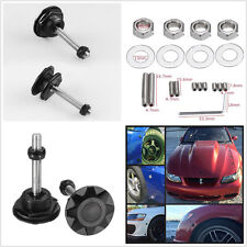 2pcs High Quality Car Metal Push Button Billet Hood Pin Lock Clip Kit Quick Pins