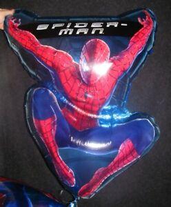 "Spiderman Balloon Birthday Foil Marvel Comics 24"" x 30"" Helium Not Included NEW"
