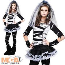 Monster Bride Teen Age 14-16  Fancy Dress Girls Halloween Party Kids Costume New