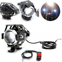 Paar Motorrad LED Hallo / Lo Strahl Scheinwerfer Flash Fahrlicht mit Schalter