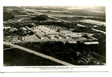Aerial Administration Camp-Alcan Highway-Alaska-RPPC-Vintage Real Photo Postcard
