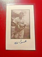 Mel Parnell Signed card stock photo Autographed Boston Red Sox