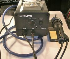 HAKKO 473 DESOLDERING STATION WITH HANDLE, NEW TIPS, VACUUM HOSE AND STAND
