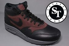 NIKE AIR MAX 1 ONE MID DELUXE QS 726411-002 BLACK BARKROOT BROWN DS SIZE: 11.5
