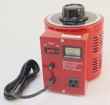 Krm Variable Speed Contact Voltage Regulator Transformer Aeec 1090vr Red Case