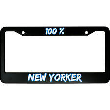 Black License Plate Frame New York City State Auto Accessory Novelty 2416