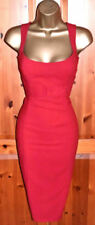 COAST Stunning Red Wiggle Cocktail Party Dress UK 8  Wedding Occasion