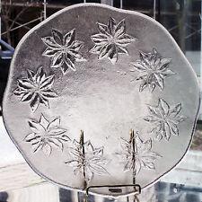 """Kosta Boda Poinsettia Round Platter 12.25""""diameter made in Sweden NEW NEVER USED"""