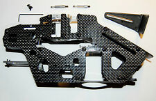 Chassis Rahmen HK 450 PRO CFK Carbon mit Lagern und Heckantrieb Starr T Rex 450