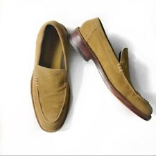 Cole Haan men's suede tan slip on loafer dress shoes size: 9.5M