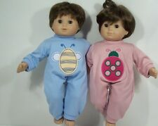 MATCHING Rompers Bee & Ladybug Doll Clothes For Bitty Baby Twins (Debs)