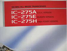 Icom - 275/A/E/H (authentique brochure seulement)... radio _ trader _ irlande.