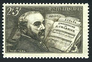 France B131, MNH. Emmanuel Alexis Chabrier, Composer, 1942