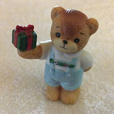 Lucy & Me Christmas Holiday Boy Bear With Present Lucy Rigg Enesco 1987