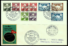 1954 Greenland Sc# 1-9 Complete set on Sas First Flight Over The Pole Cover