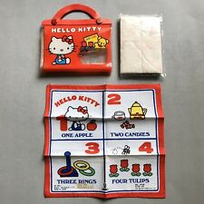 VTG 1980s HELLO KITTY Case with Handkerchief and Tissue Paper 1976 SANRIO Bag