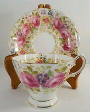 Royal Albert Serena Pink Roses Bone China Tea cup and Saucer c1945-77 England