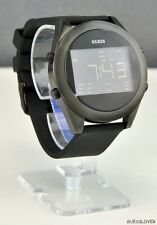 FREE Ship USA Unisex Watch GUESS Black Rubber Digital New U10068G1 Lovely