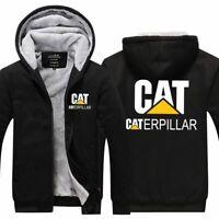 New Arrive Caterpillar Power Thicken Hoodie zip up Coat Jacket Winter Sweater