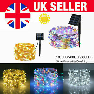 300LED Solar Garden String Lights Waterproof Copper Wire Fairy Christmas Outdoor