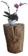 Sitzhocker / Hocker 40 cm Holz Teakholz Massiv, Beistelltisch, Holzhocker, Block