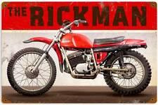 The Rickman Vintage Metal Motorcycle Racing Sign Man Cave Garage Decor FRC090