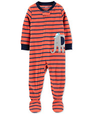 Carter's Baby Boys Elephant Fleece Footed Pajamas, Size 18 Months