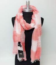 ABS Long Soft Fashion Knit thin Scarf Wrap Shawl w/ frayed edge Women, Coral