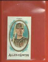 Buster Posey 2017 Topps Allen & Ginter MINI A&G BACK Card San Francisco Giants