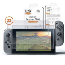 Nintendo Switch Screen Protector Tempered Glass TWIN Pack by Orzly